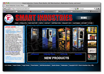 Smart Industries web site